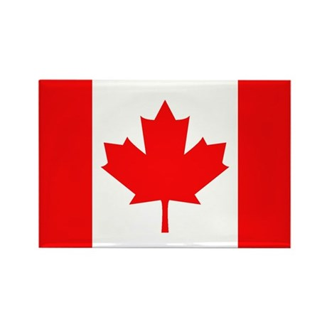 Canadian National Flag Rectangle Magnet