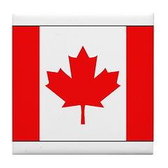 Canadian National Flag Tile Coaster