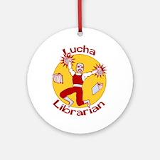 Lucha Librarian Ornament (Round)