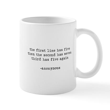 the first line has five Mug