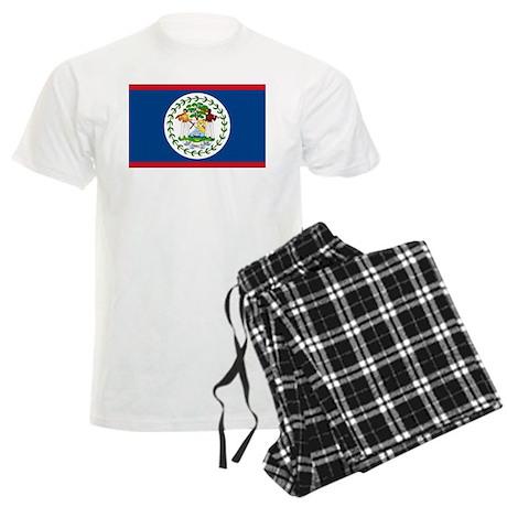 Belize Country Flag Men's Light Pajamas