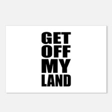 Get Off My Land Postcards (Package of 8)