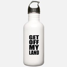 Get Off My Land Sports Water Bottle