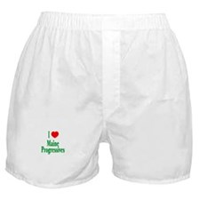 I Love Maine Progressives Boxer Shorts