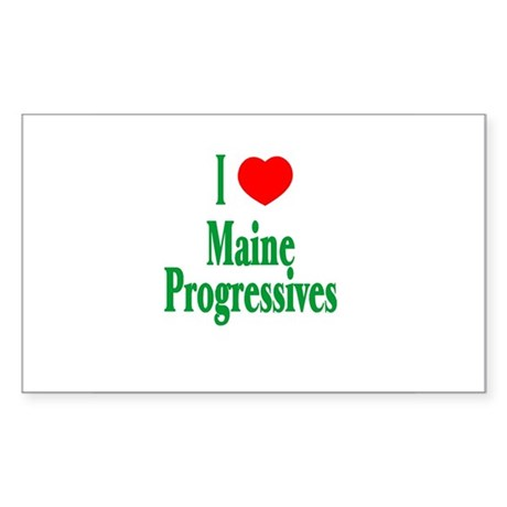 I Love Maine Progressives Rectangle Sticker