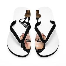 Parody and Caricatures Flip Flops