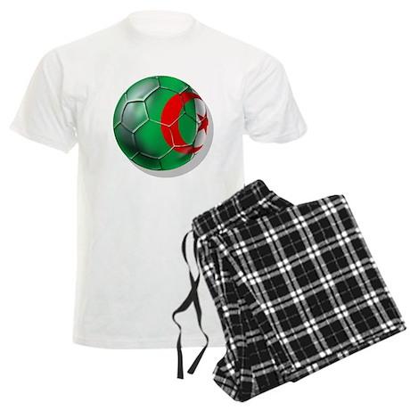 Algerian flag soccer ball Men's Light Pajamas
