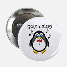 "Choir Sing Penguin Music 2.25"" Button"
