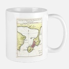 Vintage Map of Macau China (1750) Mugs
