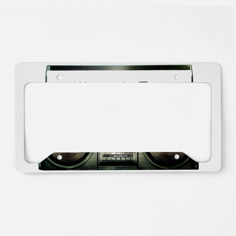 RETRO BOOMBOX License Plate Holder