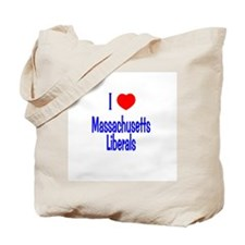 I Love Massachusetts Liberals Tote Bag