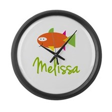 Melissa is a Big Fish Large Wall Clock