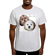 """Lhasa Apso"" Ash Grey T-Shirt"