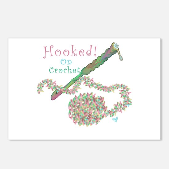 Hooked On Crochet Postcards (Package of 8)