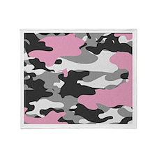 PINK CAMO Throw Blanket