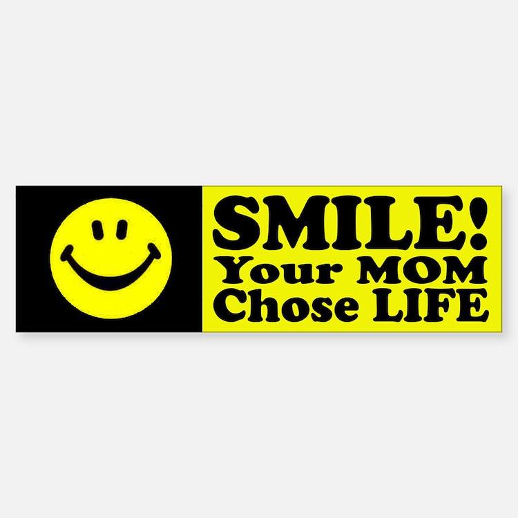 Your Mom chose life Sticker (Bumper)