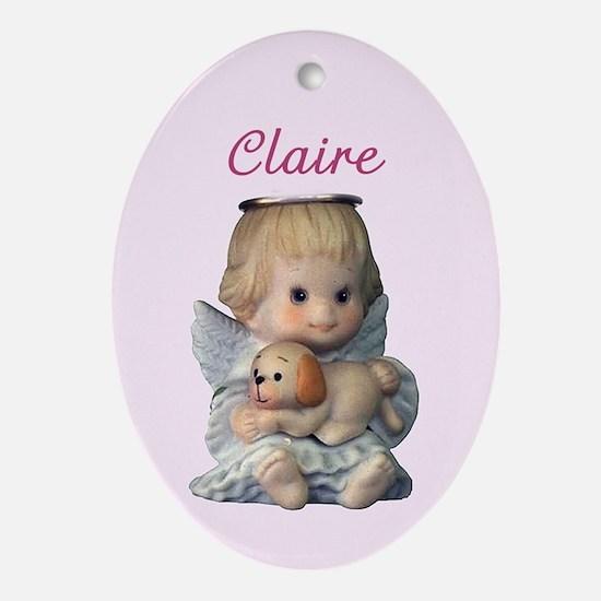 Claire Ornament (Oval)