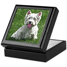 Westie Art Keepsake Box