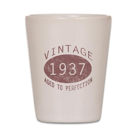 1937 Vintage (Red) Shot Glass