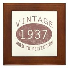 1937 Vintage (Red) Framed Tile