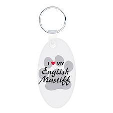 I Love My English Mastiff Keychains