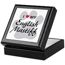 I Love My English Mastiff Keepsake Box