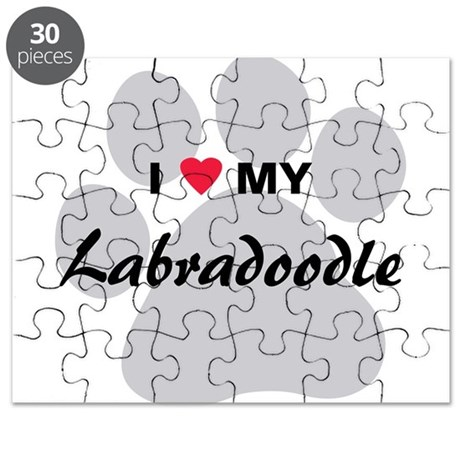 I Love My Labradoodle Puzzle