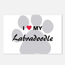 I Love My Labradoodle Postcards (Package of 8)