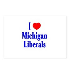 I Love Michigan Liberals Postcards (Package of 8)