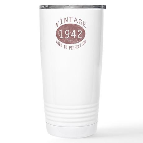 1942 Vintage (Red) Stainless Steel Travel Mug