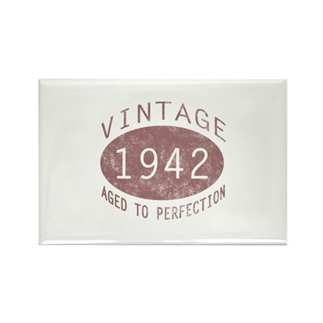 1942 Vintage (Red) Rectangle Magnet