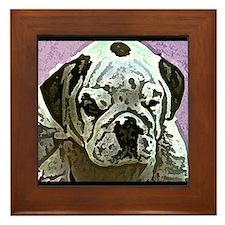 English Bulldog Art Framed Tile