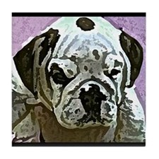 English Bulldog Art Tile Coaster