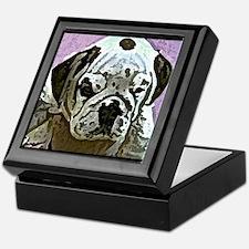 English Bulldog Art Keepsake Box