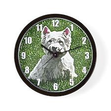 Westie Art Wall Clock