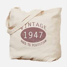 1947 Vintage (Red) Tote Bag