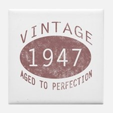 1947 Vintage (Red) Tile Coaster
