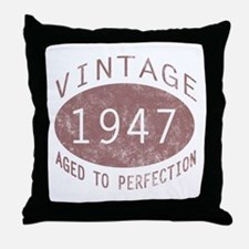 1947 Vintage (Red) Throw Pillow