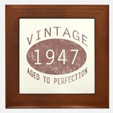 1947 Vintage (Red) Framed Tile