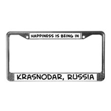 Happiness is Krasnodar License Plate Frame