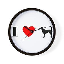 I Heart Wire Podengo Wall Clock