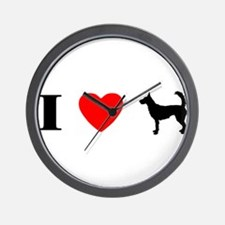 I Heart Wire Podengo Wall Clock