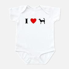 I Heart Wire Podengo Infant Bodysuit