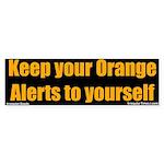 Orange Alert Bumper Sticker