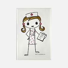 Cute Nurse Rectangle Magnet