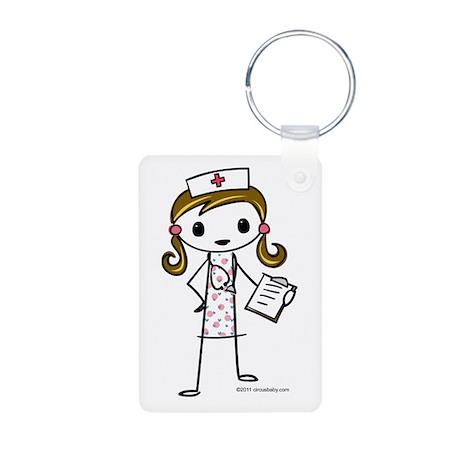 Cute Nurse Aluminum Photo Keychain