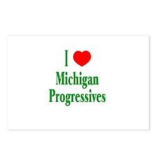 I Love Michigan Progressives Postcards (Package of