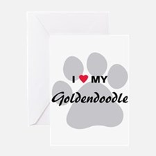 I Love My Goldendoodle Greeting Card