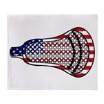 Lacrosse FlagHead Throw Blanket