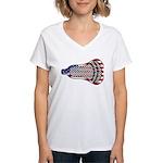 Lacrosse FlagHead Women's V-Neck T-Shirt